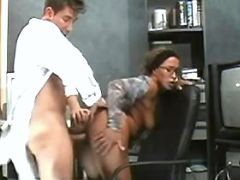 Hot secretary fucked in doggy style in office