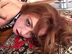 Beautiful shemales mistress fucks hot redhead girl