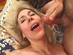 Granny hard fucked in every poses and gets cumload