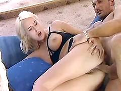 Pretty blonde gets fucked