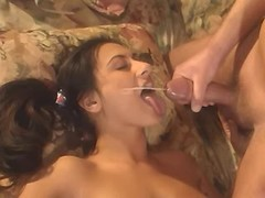 Young persian gal gets facial after boisterous sex