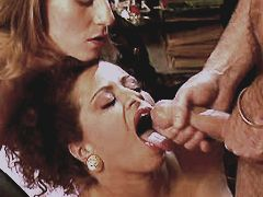 Two matures have anal n get facial