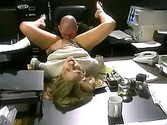 Blond secretary suck cock